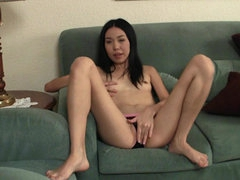 Petite Asian panty tease is sexy