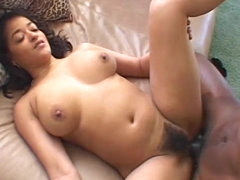 Masturbating black girl filled with..
