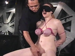 Secretary put in sexy bondage