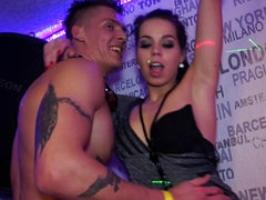 Party sex scene with lesbian action too