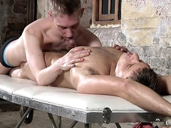 Sexy gay massage with Ashton Bradley..