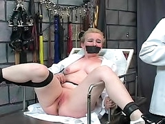 Doctor experiments on BDSM girl in..