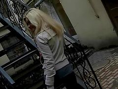 Luscious Russian blonde teen gets..