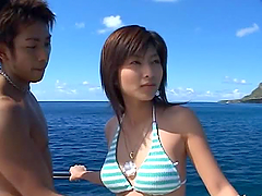 Rin Suzuka has stunning sex on a yacht..