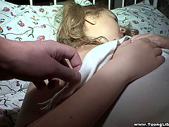 Chubby pigtailed girl Alina gets her..
