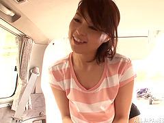 Cute Reiko Nakamori gives a nice..