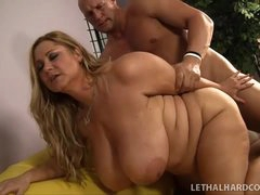 Busty Samantha 38G with big tatas..
