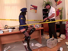 Slutty Officer Likes To Sucks Cock And..