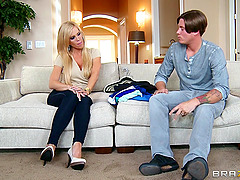 Young Stud Fucks His Girlfriend's Hot..