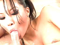 Wet massage from dashing Asian milf