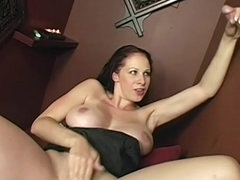 Gianna Michaels gloryhole blowjob and titjob