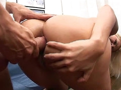 She moans with big cock in her ass