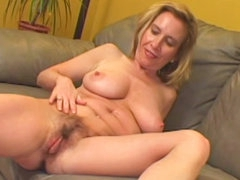 Hairy milf sex with cock riding