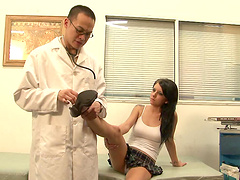 Tessa Taylor blows and gives her..