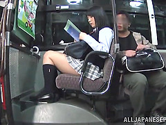 Japanese Girl Fucked on a Public Bus
