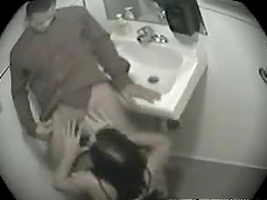 Couple gets in the bathroom and get..