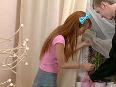 Ajenda the sweet redhead babe gets..