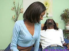 Horny black couple have oral sex and..