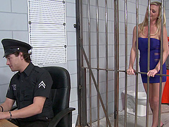 Blonde Prisoner Goes Hardcore With A..