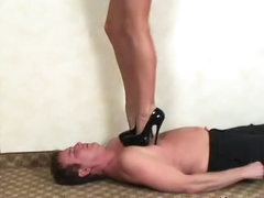 Trampling and lusty toe sucking