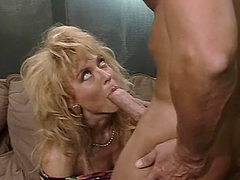 Nina Hartley sucks Peter North's cock..
