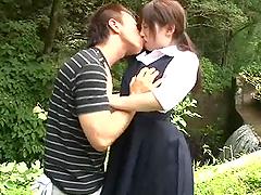 Innocent Japanese girl gets fucked..