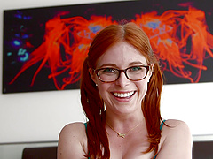 Pigtailed redhead Penny Pax gets..