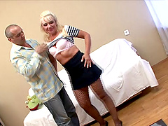 Mature Renee gets fucked in her mouth..