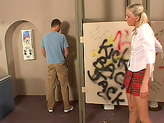 Horny man Trent drills Julie's butt in..