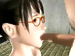 Asian teen is swallowing 3D sperm