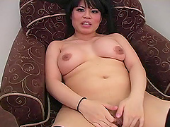 Chubby Asian slut Sasha Hollander..