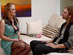 Superb Holly Heart gives a titjob and..