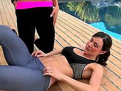 Gorgeous Ariella Ferrera getting..
