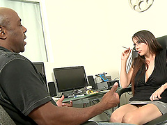 Busty Belle-Nikole Black sucks and..