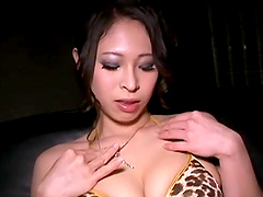 Naughty Japanese babe in a solo..
