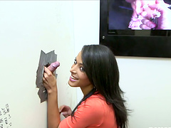 Cute Layla Sin Is At The Gloryhole..