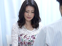 Asian MILF woman wearing a sexy..