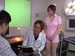 Hot asian nurse gives an amazing..