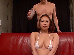 Asian babe with big tits likes..