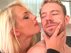Two blonde babes get her ass banged..