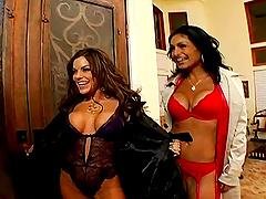 MILFS in hot lingerie fuck a big dick..