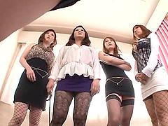 Naughty tokyo chicks seduce and tease..