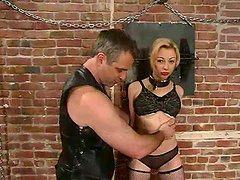 Clothespin Pussy Torture in Bondage..