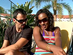 Funny Interracial Sex with Ebony Ms..