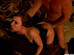 Hardcore Group Sex In Swingers Club