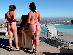 Two Nasty Babes Love Threesome Fucking