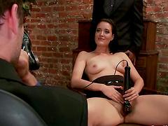 Naughty Brunette Kimberly Kane Fucked..