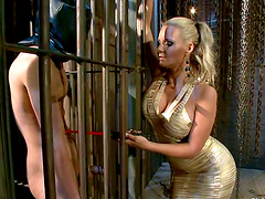 Blonde Mistress Tames A Sports Guy And..