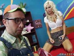 Nerd nails a hot schoolgirl