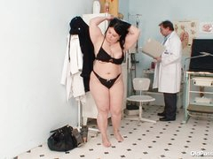 Fat babe in for exam